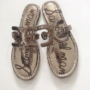 Sam Edelman sandals carter metallic size 8.5